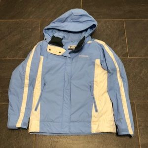 Columbia Omni-shield blue and white jacket